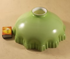 Antik fodros üveg lámpa-búra 234