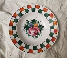 HOLLÓHÁZI 19. századi tányér, ritka falitányér