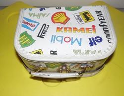 Retro gyermek gyerek bőrönd táska játék tartó