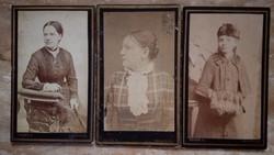 Dámák 1890-1900 vizitkártya