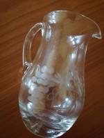 Régi metszett üveg kancsó