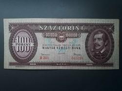 100 Forint 1962 - Hajtott szép állapotú retró ft bankjegy - Piros papír száz forintos papírpénz