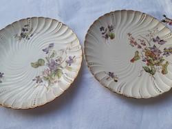Ritka,ibolyás dekorú tányér- 1 db