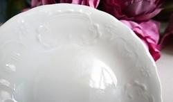 Régi Herendi fehér dombormintás tálka 8.5cm