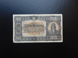 1000 korona 1923 B 05 Magyar Pénzjegynyomda
