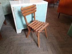 Régi retro kis méretű fa szék vintage gyerekszék