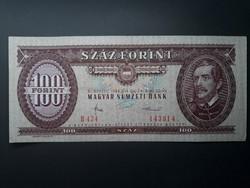 100 Forint 1984 - Hajtott szép állapotú retró bankjegy - Piros papír száz ft papírpénz eladó