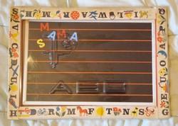 ABC Retro Mágnestábla Betűkkel, számokkal kottával tanító játék