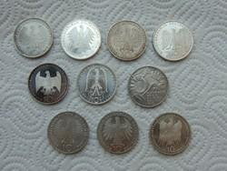 Németország ezüst 10 márka 10 darab LOT !!!