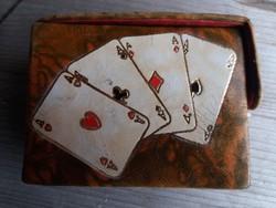 Vintage Kártyajáték Gyönyörű Dobozban