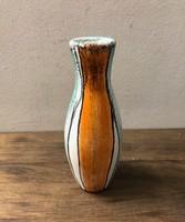 Dekor váza MK jelzéssel a talpán, narancs, türkiz, fekete, fehér színekben