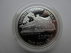1990 EISENHOWER CENTENNIAL Liberty 27g 0.900ag emlékérme RITKA