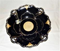 Csodás Ilmenau tál, asztalközép Echt Kobalt