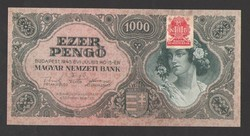 1000 pengő 1945.  Bélyeges!!  Tökéletes UNC!!