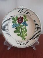 Régi Tordai virágmintás falitányér, falidísz