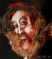 Győrfi András - 29 x 26 cm olaj, akril, műlemez