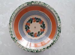Régi Karcagi kerámia tányér falitányér népies fali dísz 26 cm