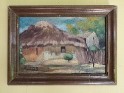 Edvi Illés Aladár Falusi Ház festménye