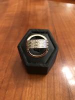 18 karátos fehér arany  BARAKA gyűrű,brillekkel!