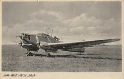 """Régi képeslap, Focke-Wulf Fw 58 """"Weihe"""" német, többfeladatú katonai repülőgép"""