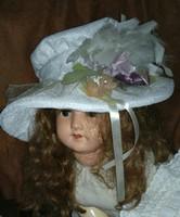Babára kalap, kis táskával /fehér