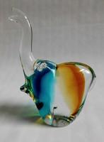 Muranoi designer tömör üveg elefánt