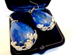 LAPIS lazuli ásvány fülbevaló nagy