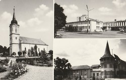 Régi képeslap, Berettyóújfalu - városképek