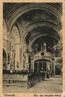 Régi képeslap, Celldömölk - Római katolikus templom belseje