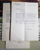 Nyers Rezső aláírása! 1964-ből! Baráti hangnemű levél!