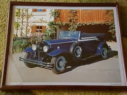 Képkeret, régi autós kép 31x25