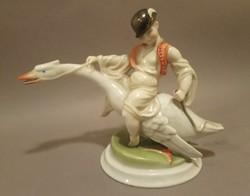 Ó Herendi Ludas Matyi / Herend porcelain figure