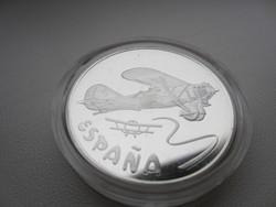 1997 Spanyol Repülők 33.7gr 0.925ag 1uncia szín befektetési ezüst érme