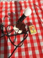 Retro mini csíptetős lámpa - falilámpa - vintage stílus