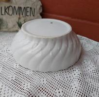 MZ Altrohlau Gyönyörű vastag fehér porcelán tál, Csavart Gyöngyös mintával. Gyűjtői darab falusi