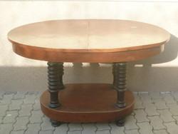 Antik ovális étkezőasztal ( bővíthető )
