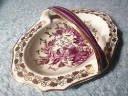 Antik Hutschenreuther Real Dresden Saxonia porcelán kosár