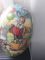 2 db retro színes húsveti figurális karton tojások, husvéti dekoráció