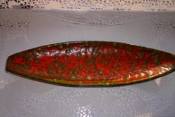 Retro csonak  kerámia  tál -70-es évekből Műcsarnokban vásárolt