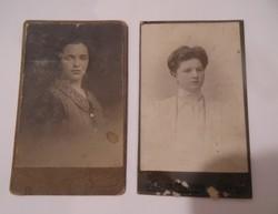2 darab kemény lapos régi antik fénykép a Monarchiából