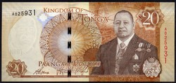 Tonga 20 paanga UNC 2015