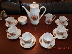 KAHLA német (GDR) porcelán kávéskészlet