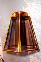 Antik  6 lapos---a lapok szegélye fazzetált  lámpa búra