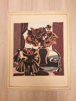Hajdú Katalin - Csendélet - akvarell festmény 36cm x 34 cm