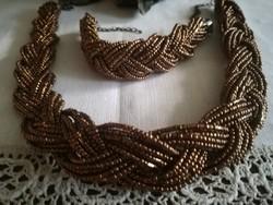Gyöngy nyaklánc és karkötő