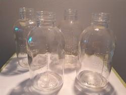 Retro infúziós palack régi gyógyszertári üveg 4 db