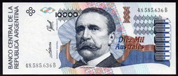 Argentína 10.000 australes UNC 1989