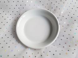Régi Zsolnay fehér tálka 15x3cm