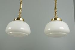Békaláncos art deco mennyezeti lámpa pár