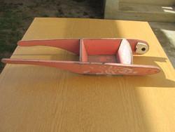 Régi fa talicska - gyermek játék (65x20cm, hiányos)